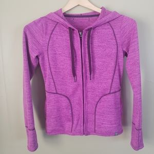 Title Nine Pink Zip Up Hooded Hoodie Jacket Small